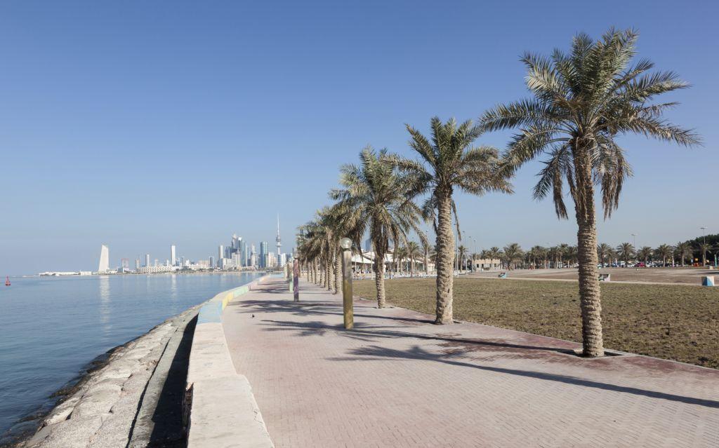 Corniche in Kuwait City, Middle East