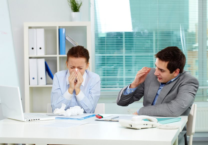 Sick in office iStock_000051049556_Small