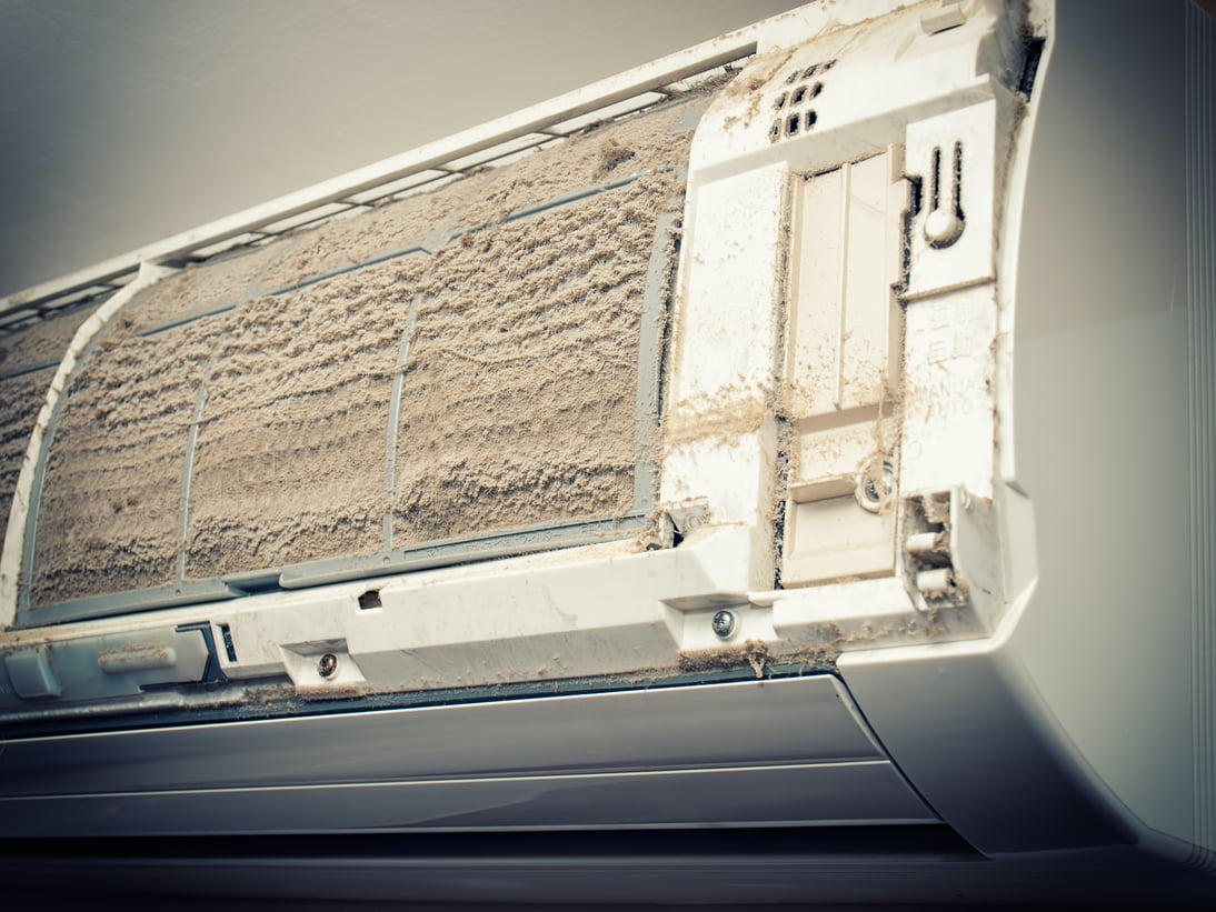Dusty Air Conditioning Unit